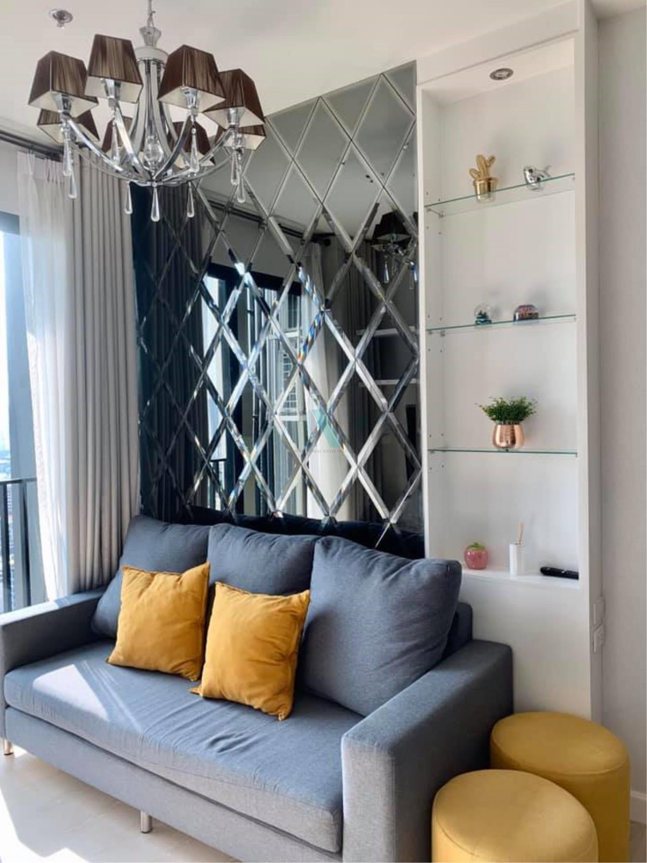 NOPPON REAL ESTATE CO.,LTD.  Agency's For Rent The Niche Pride Thonglor-Phetchaburi 1 Bedroom Floor 28 near MRT Phetchaburi. 1