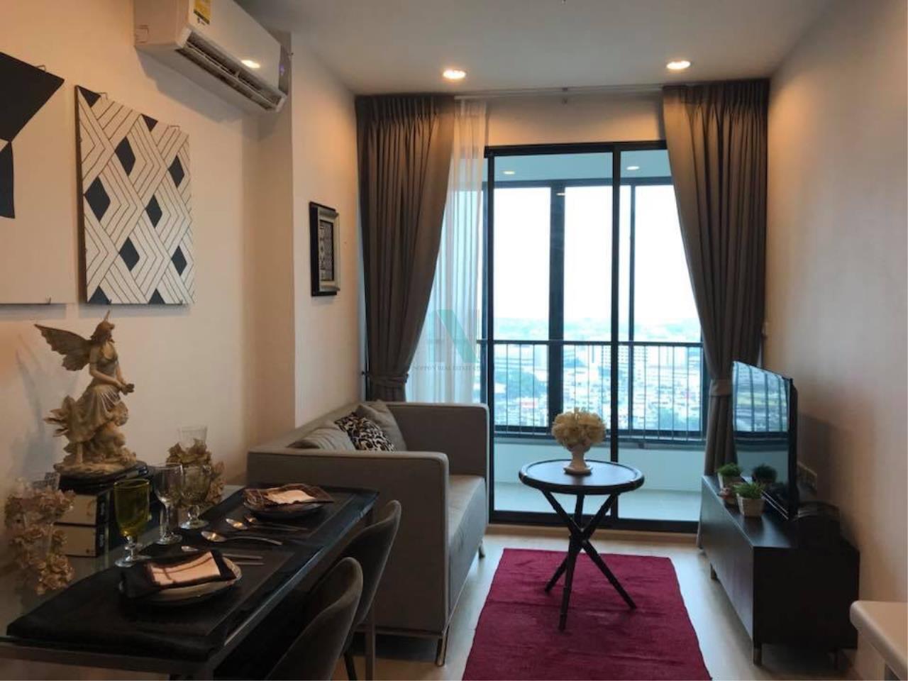 NOPPON REAL ESTATE CO.,LTD. Agency's For rent Ideo Sathorn-Thaphra 1 bedroom 24th floor near BTS Pho Nimit. 1