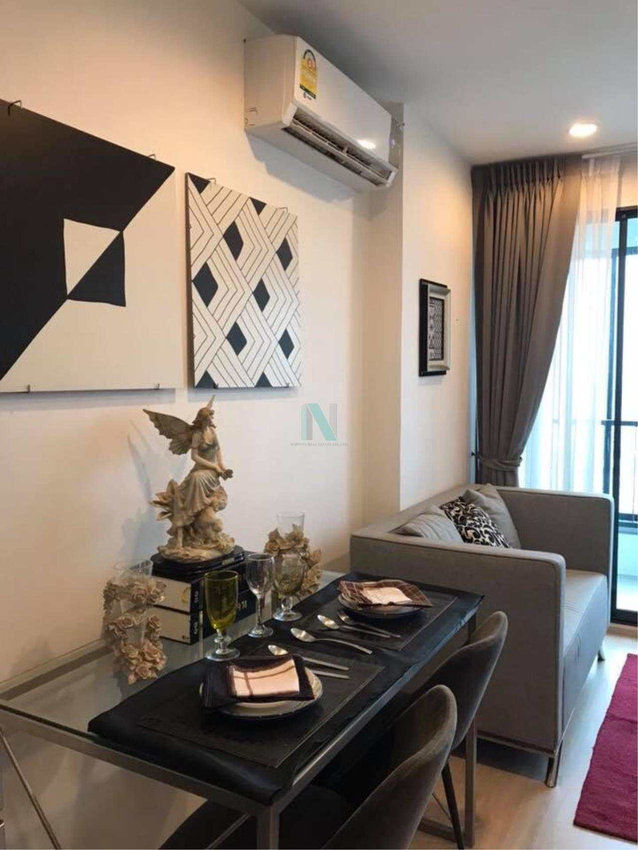 NOPPON REAL ESTATE CO.,LTD. Agency's For rent Ideo Sathorn-Thaphra 1 bedroom 24th floor near BTS Pho Nimit. 7