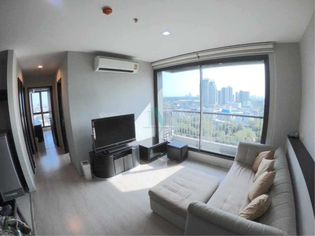 NOPPON REAL ESTATE CO.,LTD.  Agency's For rent Rhythm Sukhumvit 44/1 2 bedroom 17th floor near BTS Phra Khanong. 3