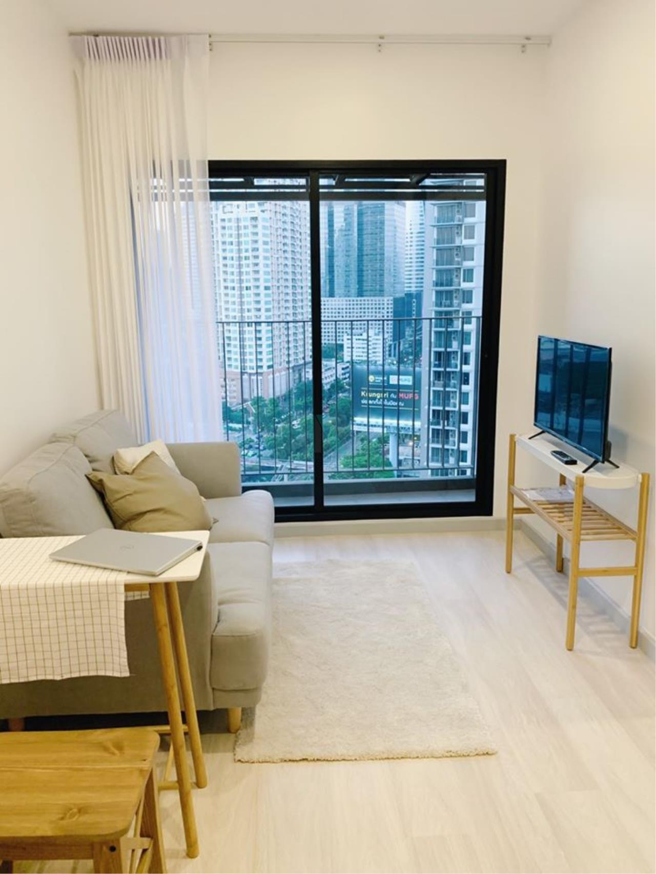 NOPPON REAL ESTATE CO.,LTD.  Agency's For rent Knightsbridge Prime Sathorn 1 bedroom 21st floor near BTS Chong Nonsi. 1