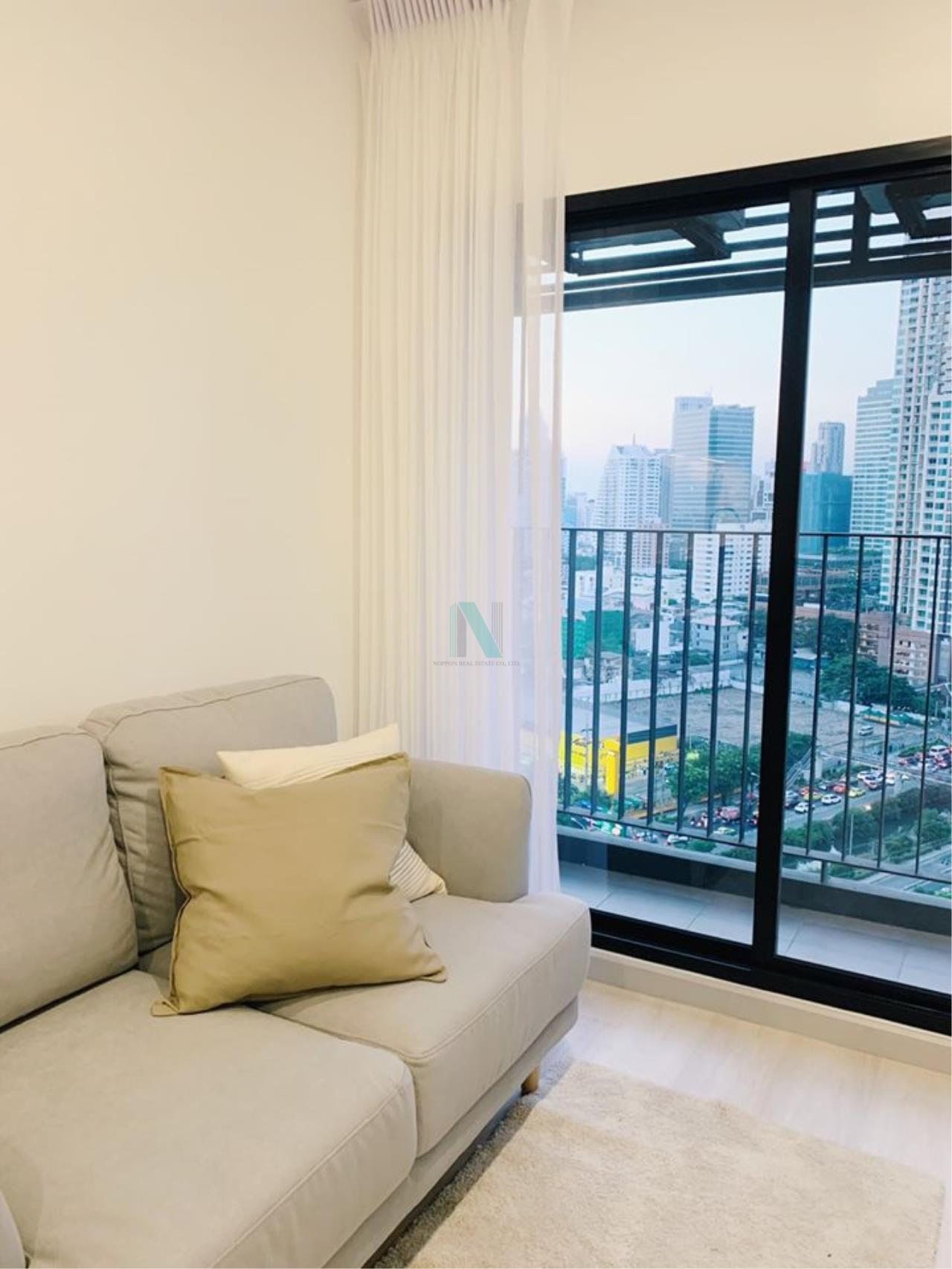 NOPPON REAL ESTATE CO.,LTD.  Agency's For rent Knightsbridge Prime Sathorn 1 bedroom 21st floor near BTS Chong Nonsi. 3