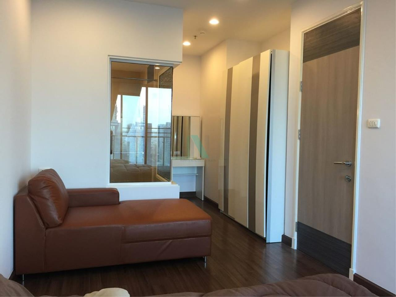 NOPPON REAL ESTATE CO.,LTD.  Agency's For rent Supalai Premier at Asoke 1 bedroom 28th floor near MRT Phetchaburi. 3
