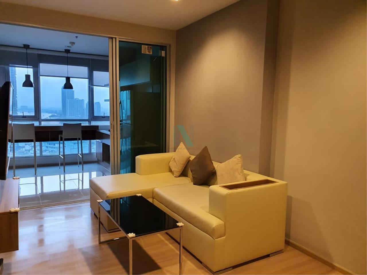 NOPPON REAL ESTATE CO.,LTD.  Agency's For rent Rhythm Sathorn 1 bedroom Floor 22 Building S near BTS Saphan Taksin. 1
