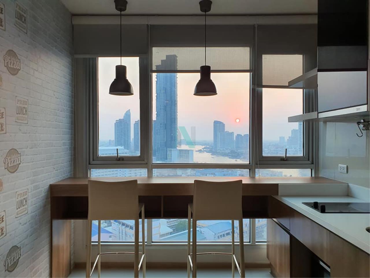 NOPPON REAL ESTATE CO.,LTD.  Agency's For rent Rhythm Sathorn 1 bedroom Floor 22 Building S near BTS Saphan Taksin. 2