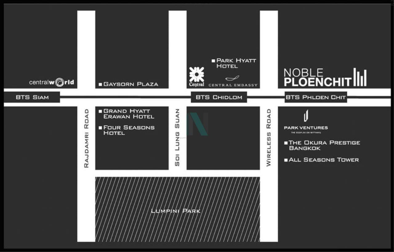 NOPPON REAL ESTATE CO.,LTD.  Agency's For rent Noble Ploenchit 1 bedroom 20th floor Building C near BTS Ploenchit. 8