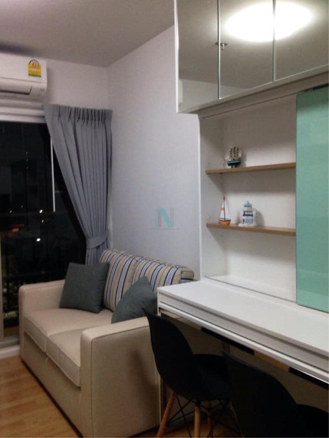 NOPPON REAL ESTATE CO.,LTD.  Agency's For rent The Parkland Lite Sukhumvit-Paknam 1 bedroom 4th floor Building B near BTS Pak Nam. 7