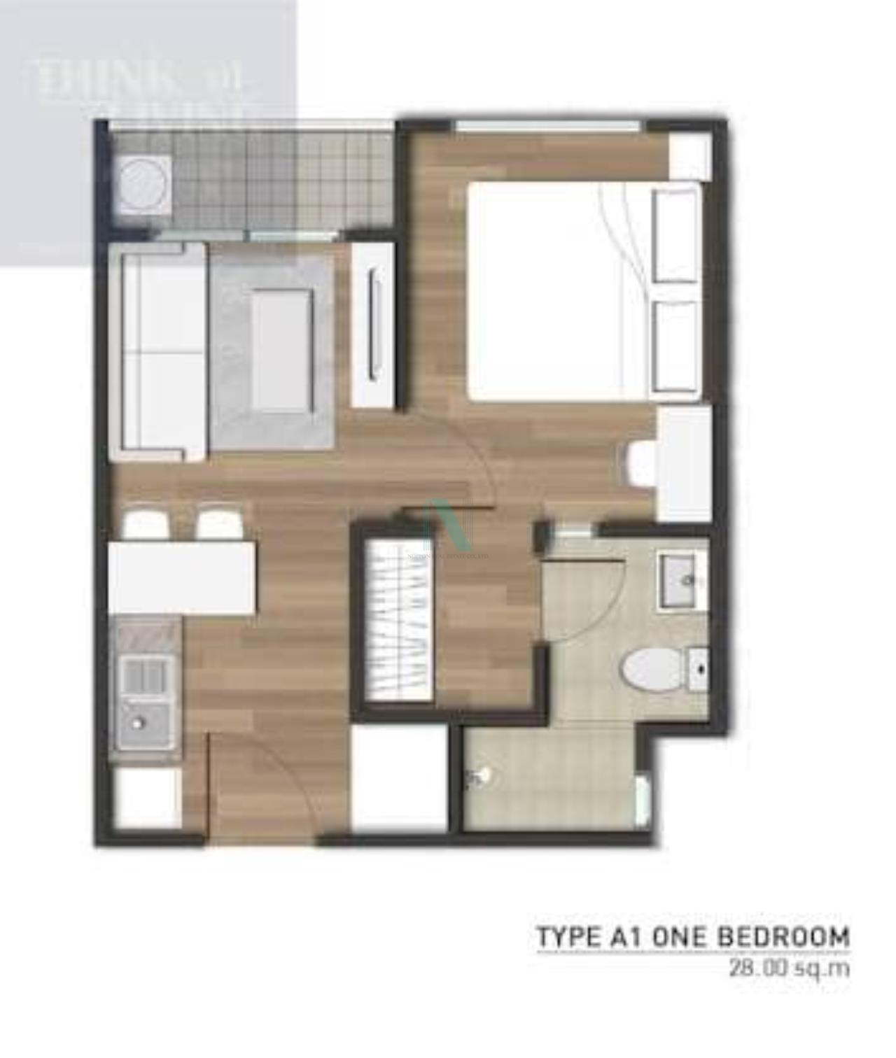 NOPPON REAL ESTATE CO.,LTD. Agency's For Rent The Privacy Rewadee 1 Bedroom 6th Floor Building C . 7