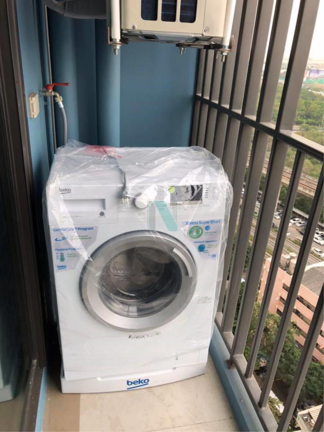 NOPPON REAL ESTATE CO.,LTD. Agency's For rent RICH PARK AT TRIPLE STATION  1 bedroom, 18th floor, near Airport Link Hua Mak. 8