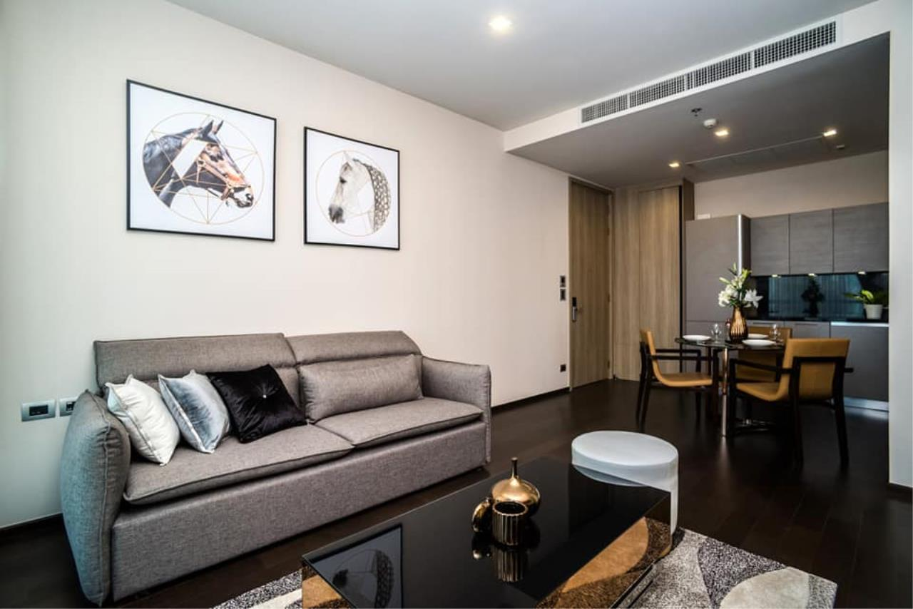 Agent Thawanrat Agency's Condo for rental THE XXXIX SUKHUMVIT 39 Near BTS.Phrom Phong. 1 bedroom,1 bathroom. size 55 sqm.Floor 19 th. fully furnished Ready to move in 2
