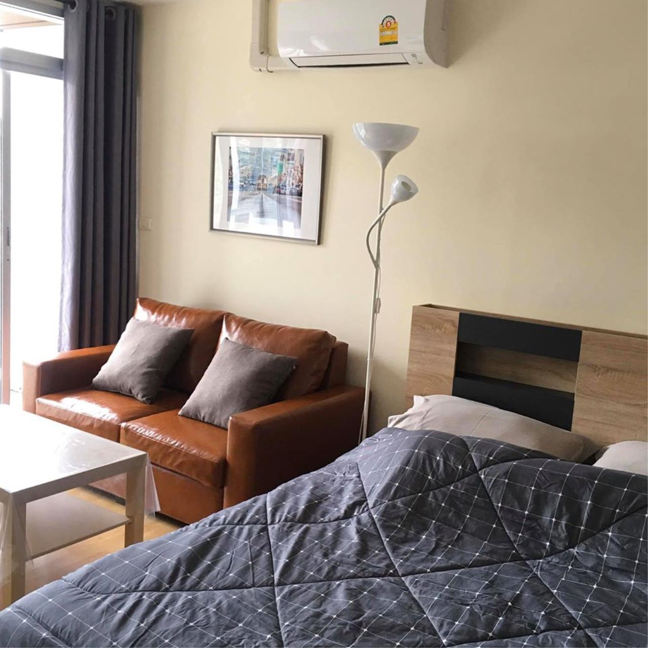 Agent Thawanrat Agency's Condo for rental THE LINK ADVANCE SUKHUMVIT 50 Near BTS. On Nut 1 bedroom,1 bathroom. size 31.5 sqm.Floor 2 nd. fully furnished Ready to move in 3