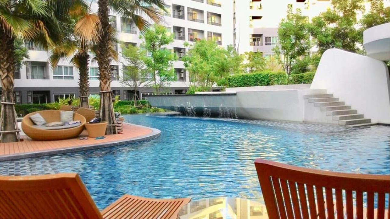 Agent Thawanrat Agency's Condo for rental ELIO DEL RAY Near BTS.Udom Suk 1 bedroom,1 bathroom. size 24 sqm.Floor 3 rd. fully furnished Ready to move in 14