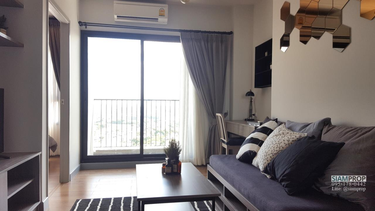 Siam Prop Agency's 1 Bedroom at ChapterOne Midtown for Rent, 100 m. to Ladprao MRT Station. 18,000 Baht Only 5