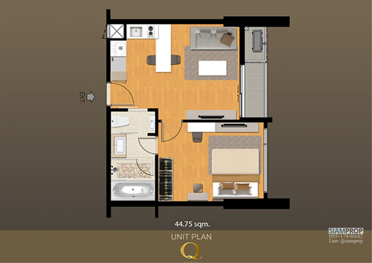 Siam Prop Agency's Q Condo Asoke, 1 bed For Rent 35,000 THB or Sell 12 M  7