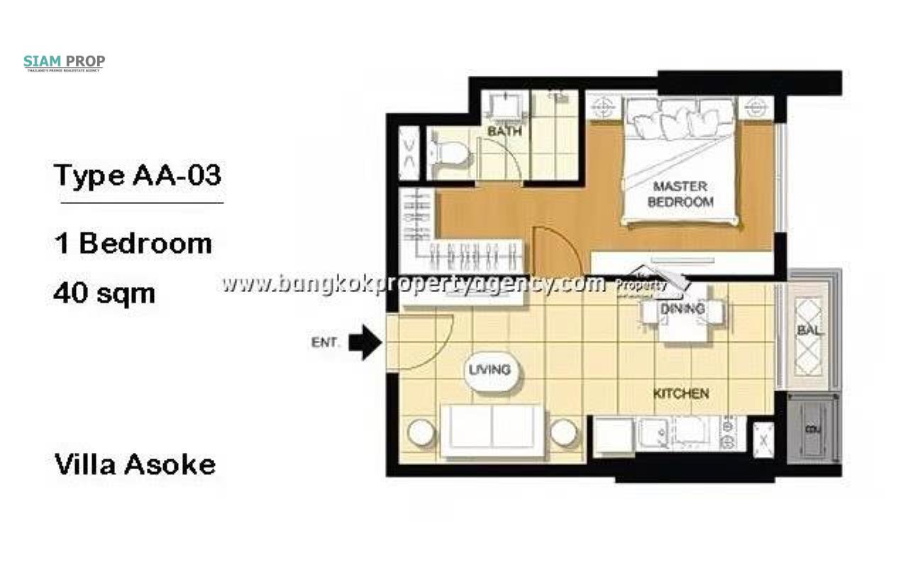 Siam Prop Agency's  Villa Asoke Condo 15