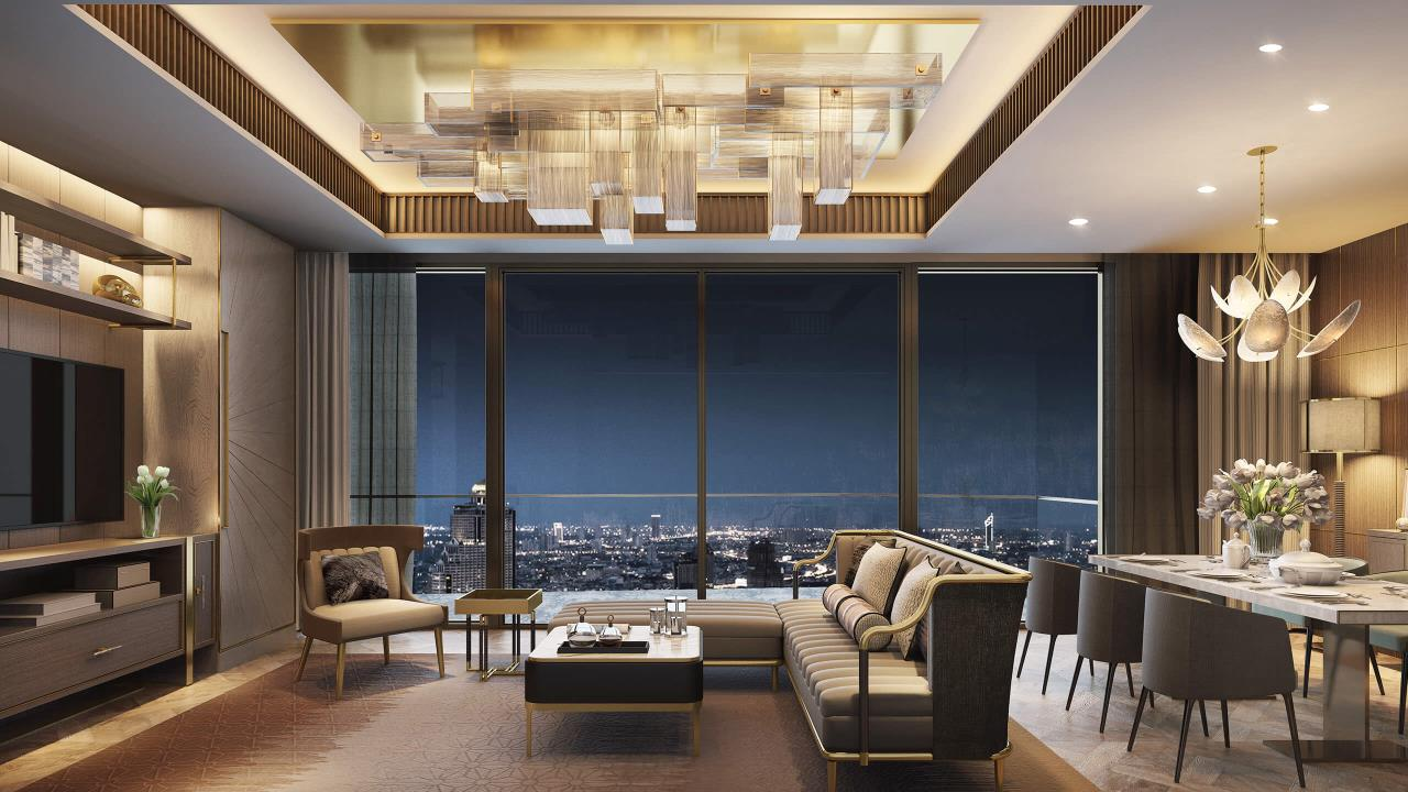 W To Property Co.,Ltd. Agency's For Sale - The Residences at Mandarin Oriental Bangkok / 2-bedrooms / 128 sqm / Floor 30+ (C016740) 3