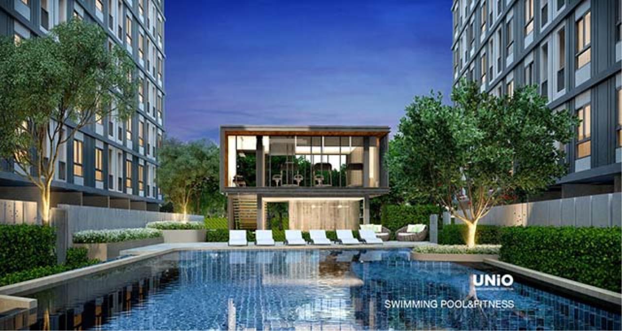 Agent - Sarunya jantanakorn Agency's BE0032 Condo for Sale Unio Ramkhamhaeng-Serithai fl.5th 27 sqm 1 bed near NIDA 2