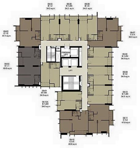 RE/MAX Properties Agency's SALE Ideo Q Ratchathewi  2 bed 60 Sq.m at Ratchathewi 3