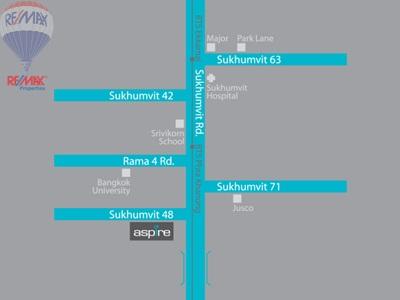 RE/MAX Properties Agency's Aspire 2 bedroom 55 Sq.m at Aspire sukhumvit 48 10