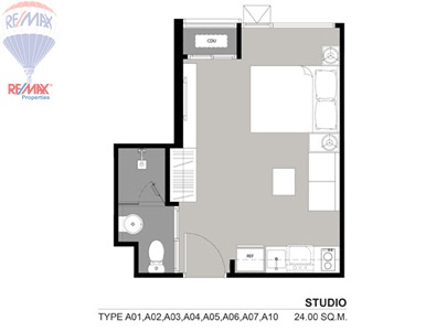 RE/MAX Properties Agency's SALE 24 Sq.m Studio room at RHYTHM 36-38 1
