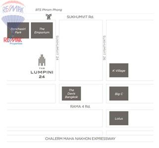 RE/MAX Properties Agency's RENT 1Bedroom 32 Sq.m at Lumpini 24 7
