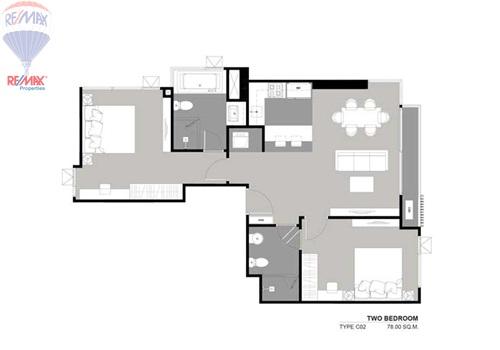 RE/MAX Properties Agency's SALE 2 Beroom 78 Sq.m at Rhythm 36 2