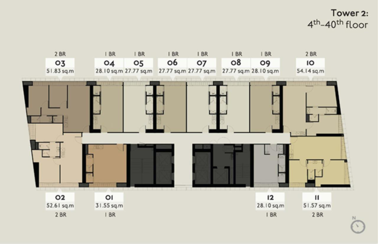 RE/MAX Properties Agency's SALE  !! 2 beds 2 baths 55.87 sq,m @ Park24 7