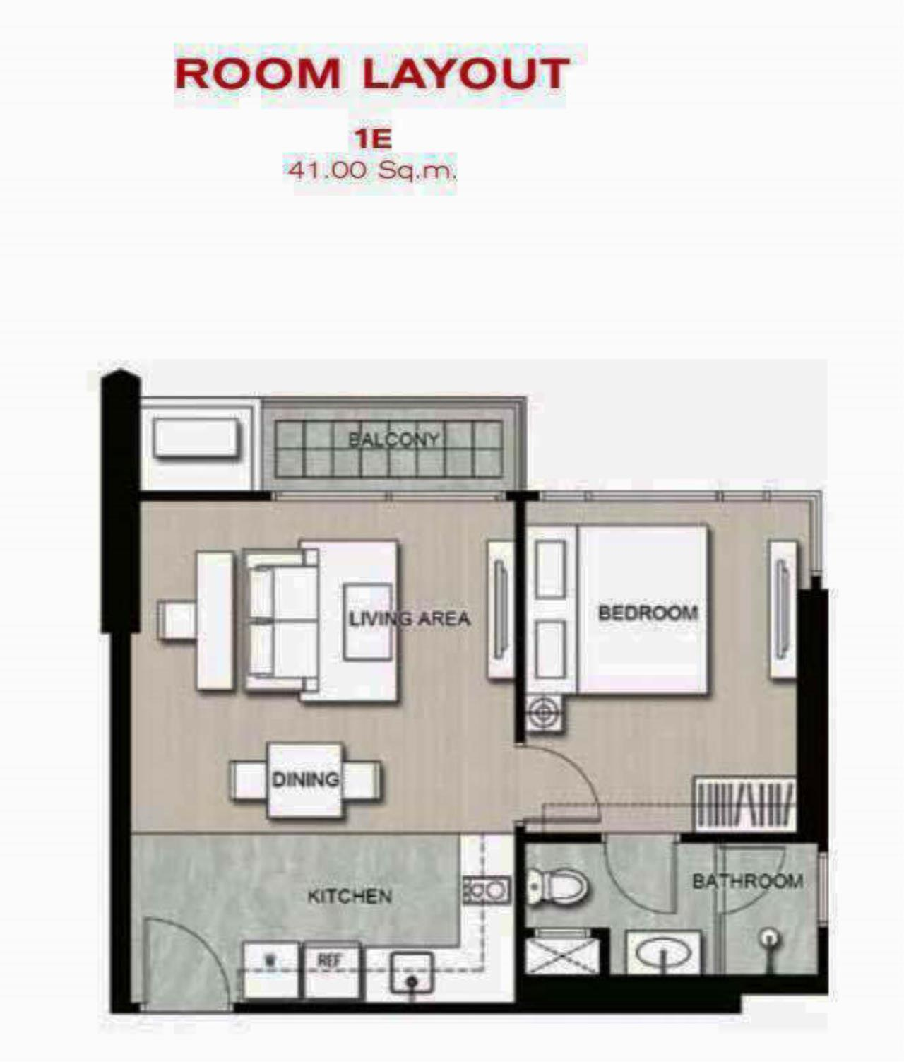 RE/MAX Properties Agency's 1 Bedroom 41 Sq.M. for sale at EDGE Sukhumvit 23 5
