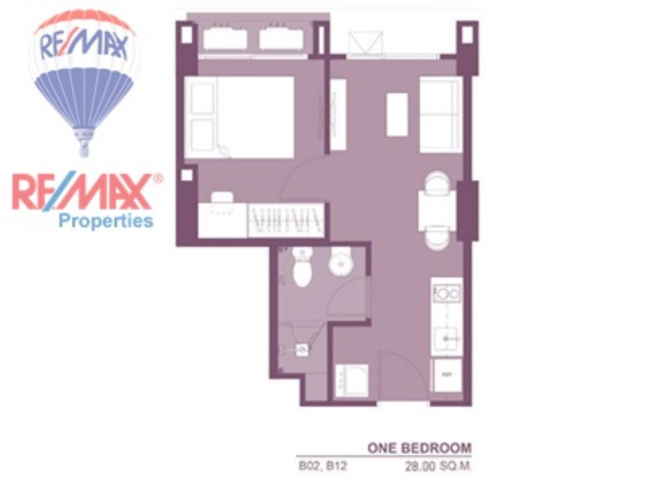 RE/MAX Properties Agency's For Rent!! 1 Bedroom 28 Sq.m @Rhythm Asoke 2 9