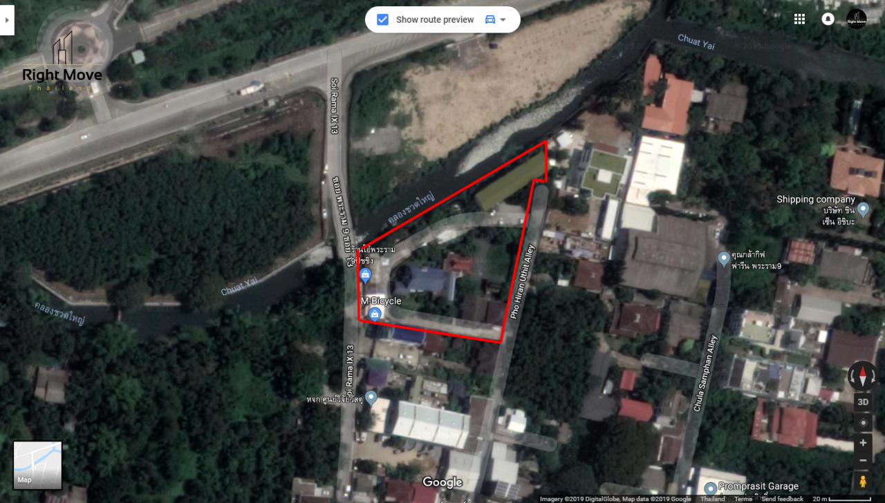 Right Move Thailand Agency's CM414 Land for sale - Rama 9 Road - 3 rai 90.2 SqWah - 270,963,000 THB 1