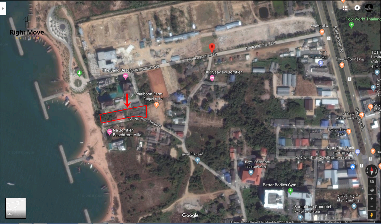 Right Move Thailand Agency's PR1018 Land For Sale 220,000,000 THB 551 Sqw/2204 sqm  2