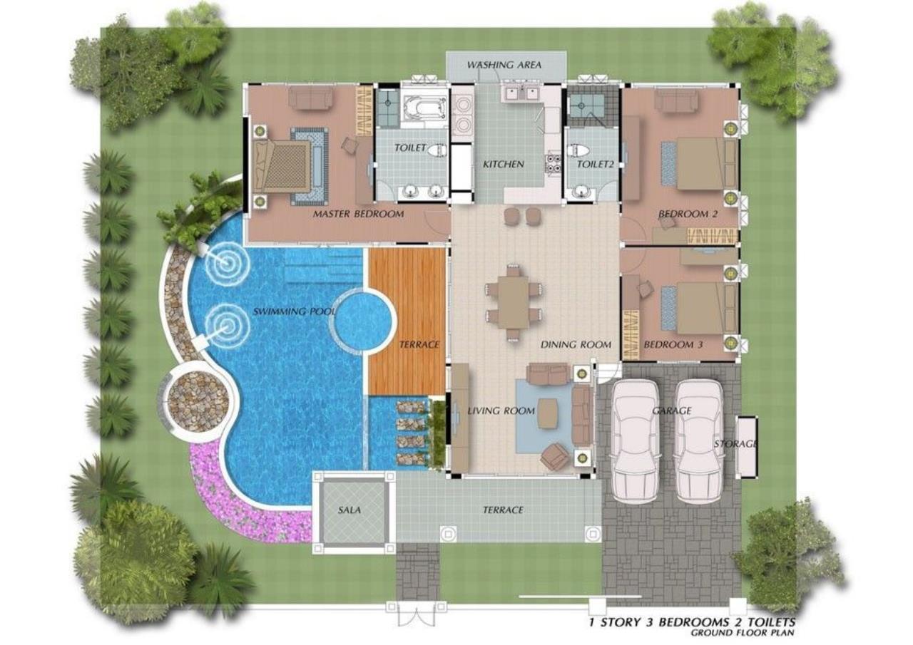 Thaiproperty1 Agency's New pool villa - 50% financ - Na Jomtien 19