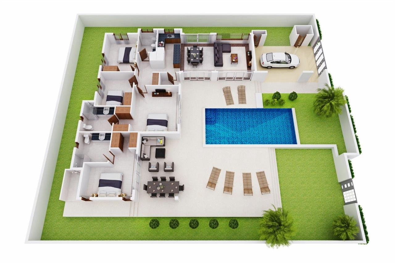 Thaiproperty1 Agency's Pool Villa with 4 bedrooms in beautiful and well run project 24