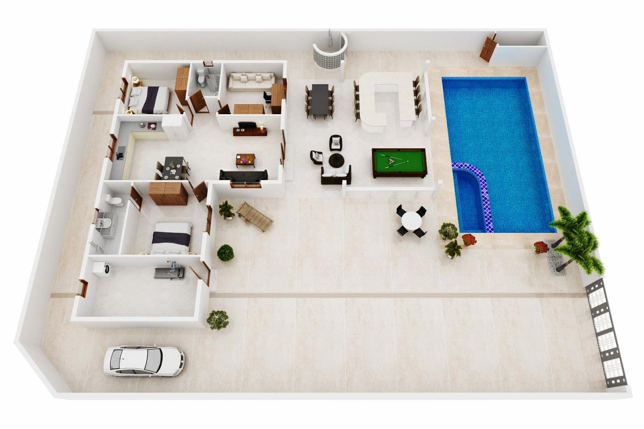 Thaiproperty1 Agency's Pool Villa with large covered outdoor area 23