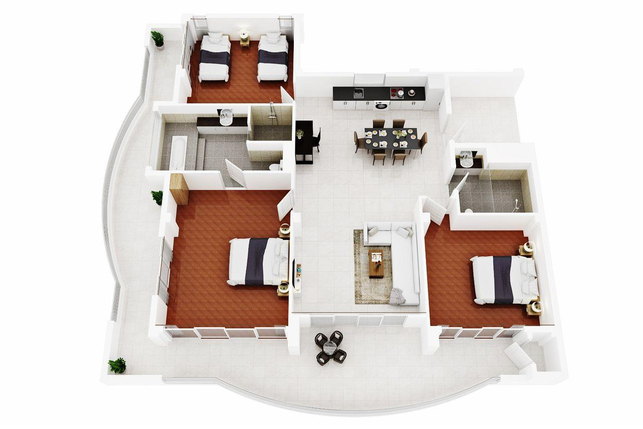 Thaiproperty1 Agency's LUXURIOUS 3 BEDROOM CONDO IN THE SOUTHERN PART OF HUA HIN. 22