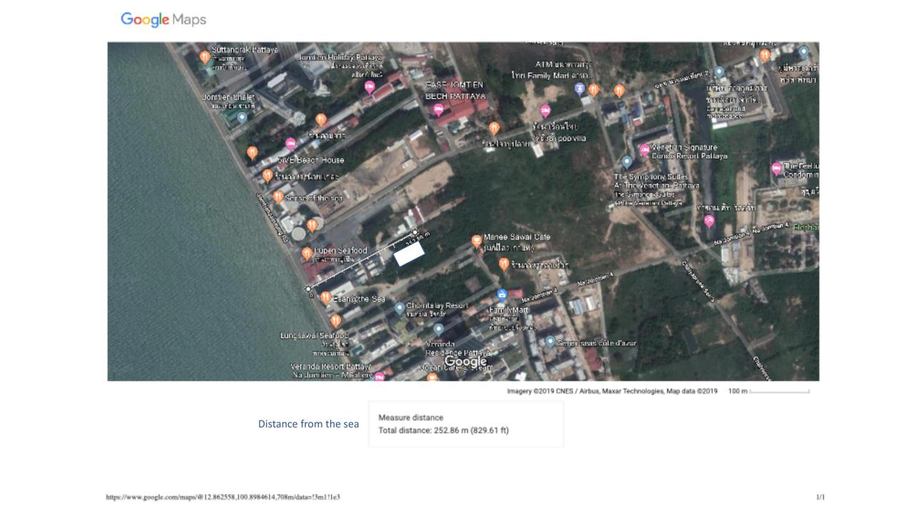 Thaiproperty1 Agency's 2,160 Sq.m Land Behind Pupen Restaurant - Jomtien Beach Road 7