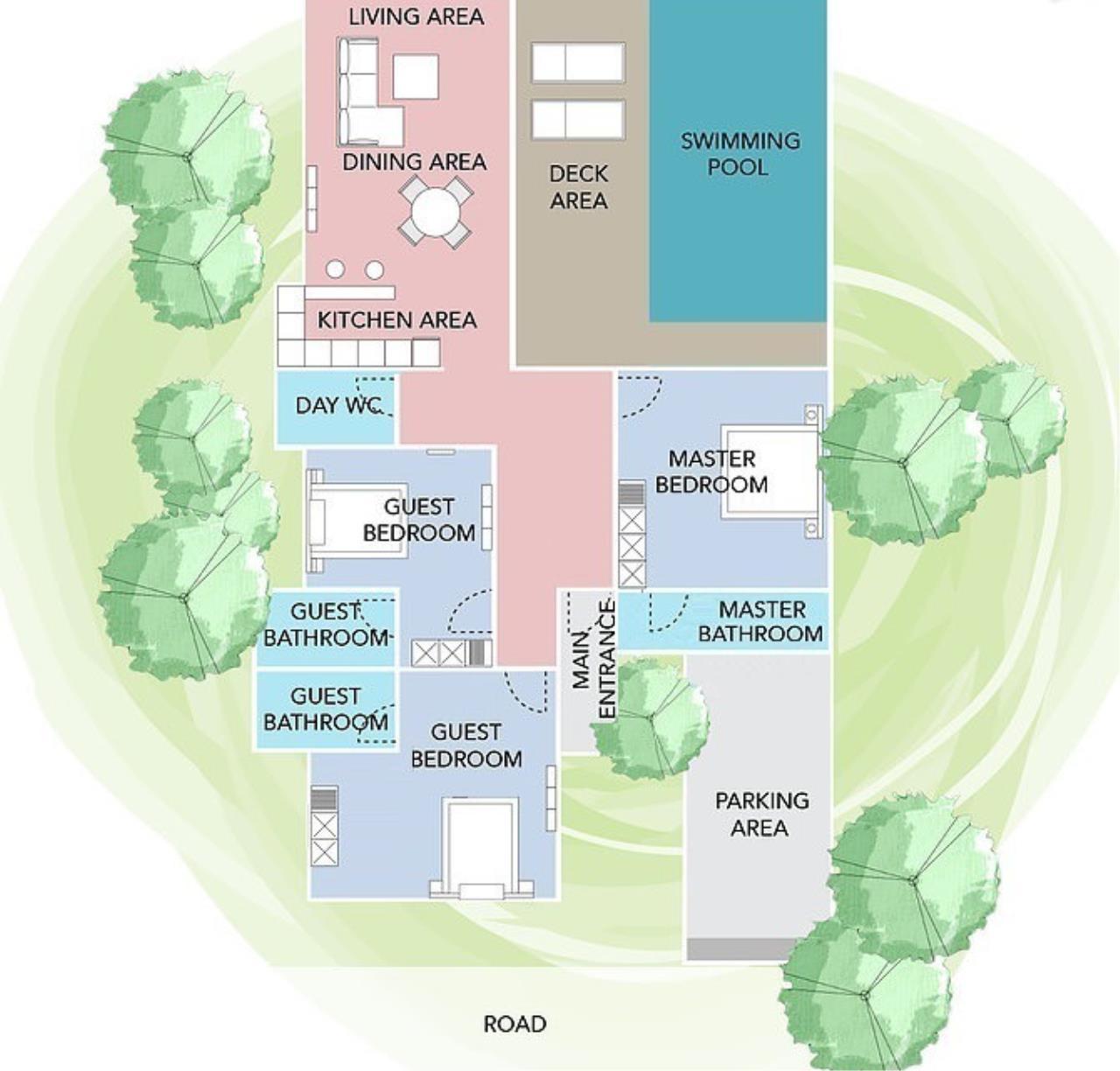 Luxury Hua Hin Property Agency's New Development - Well Designed 3 Bedroom Pool Villa  22