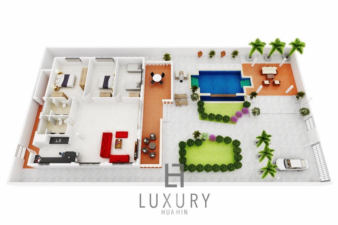 Luxury Hua Hin Property Agency's Centrally Located 3 Bedroom Pool Villa 15