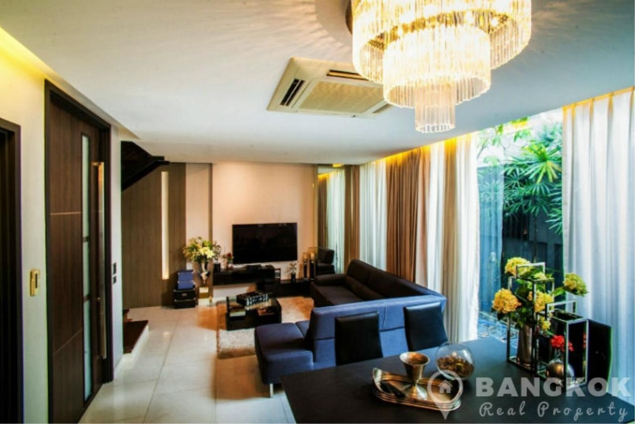 Bangkok Real Property Agency's Stunning Luxury 4 Bed 5 Bath Ekkamai Townhouse near BTS 7