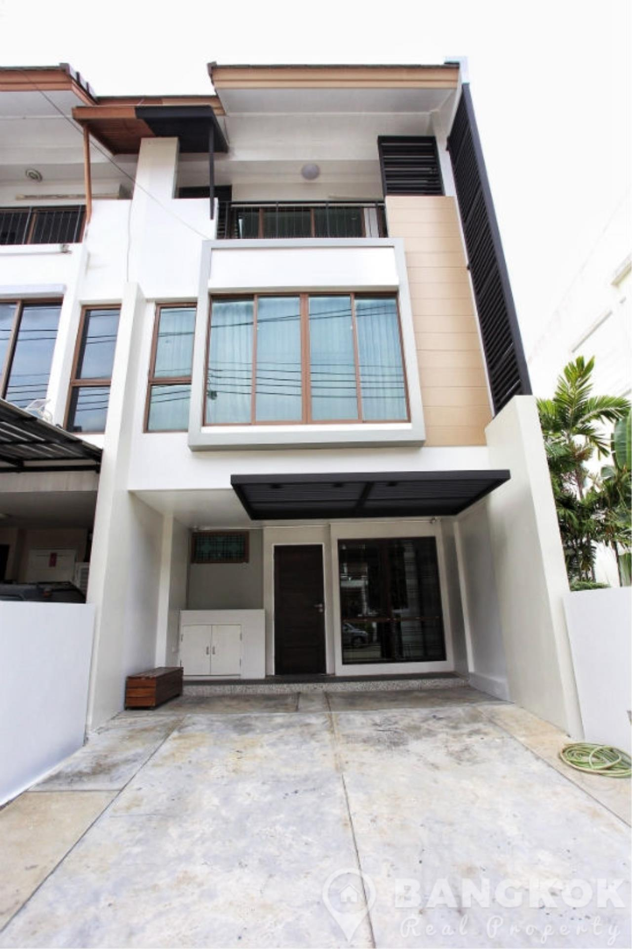 Bangkok Real Property Agency's Spacious 1st Rental 3 Bed 4 Bath Bangchak Townhouse near BTS 11