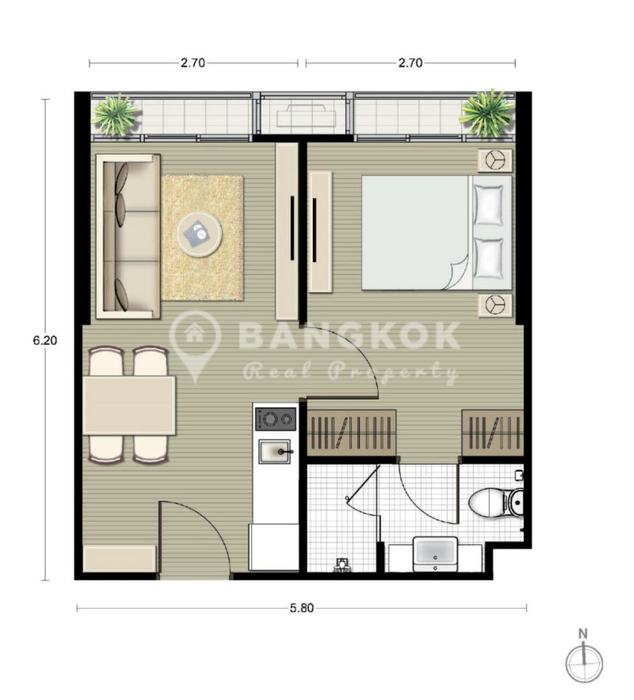 Bangkok Real Property Agency's Noble Recole Sukhumvit 19 | Brand New Modern 1 Bed near NIST School 7