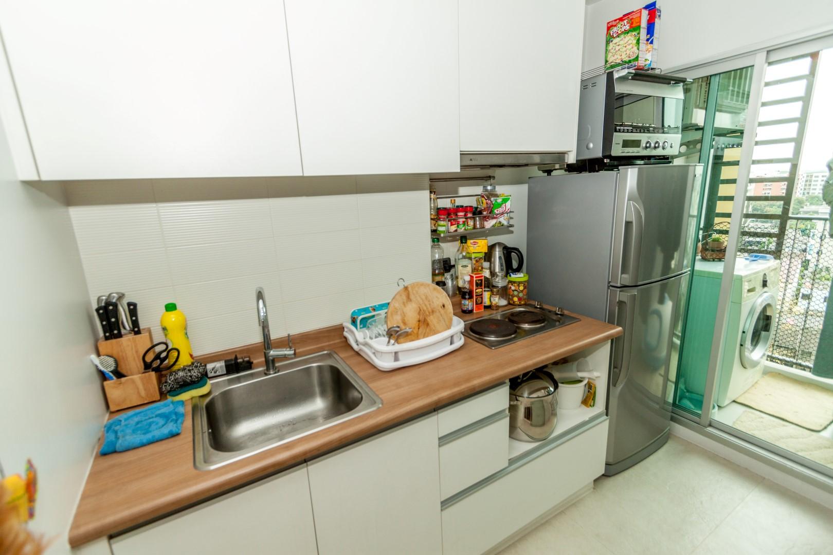 In Bangkok Condo Agency's U Delight, Hauy Kwang 65 sqm, 2 bed high floor 5