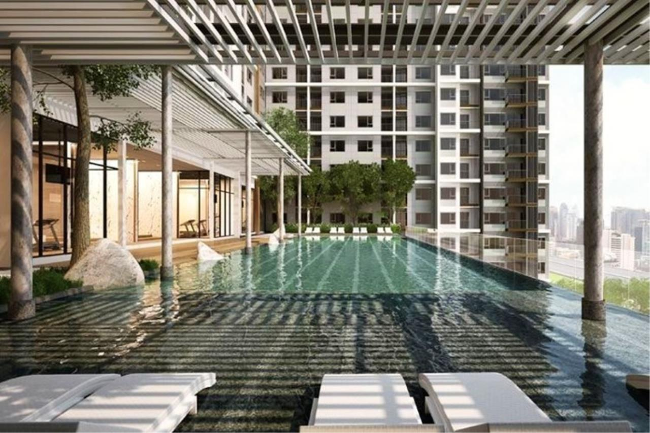 In Bangkok Condo Agency's Life Asoke off plan completed soon.  hard to find corner unit 8