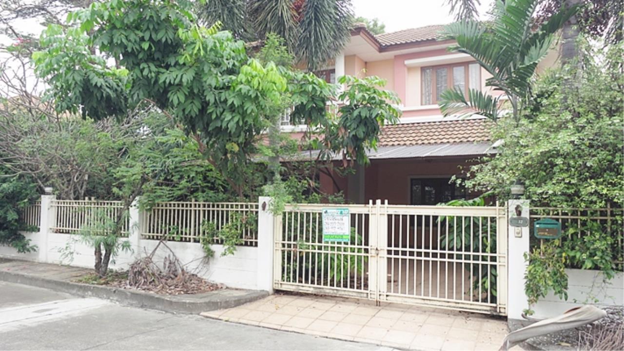 Estate Corner Agency (Samut Prakan) Agency's Sale 2 storey house, Neighborhome Ramintra - Watcharapol, behind the corner, fully furnished. 1