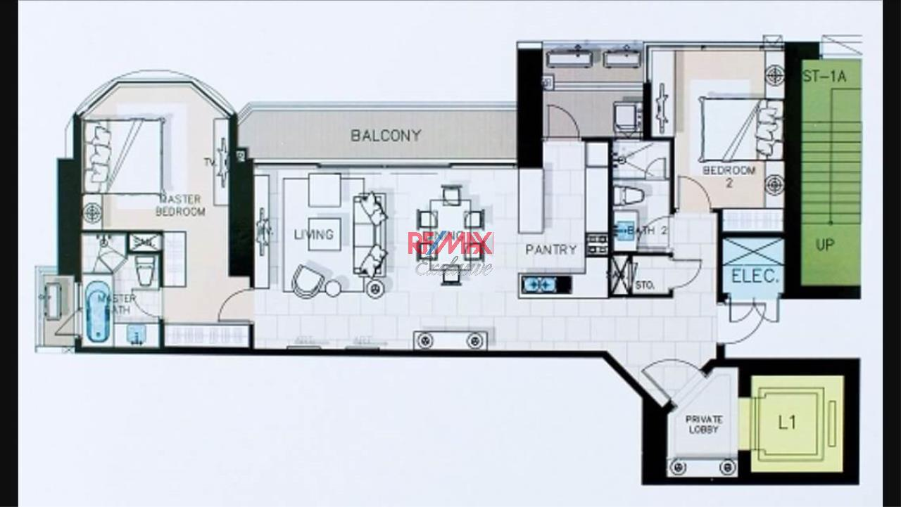 RE/MAX Exclusive Agency's Royce Private Residence, 2 Bedroom 112 Sqm. for Rent best price 16