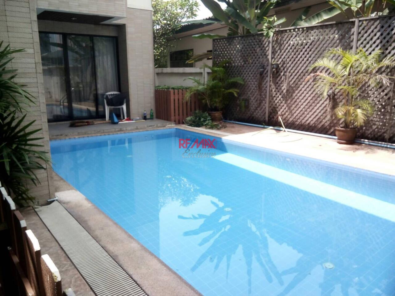 RE/MAX Exclusive Agency's Detached House 4 Bedrooms 200 Sq wah with Private Pool, For Rent 150,000 THB!! 24