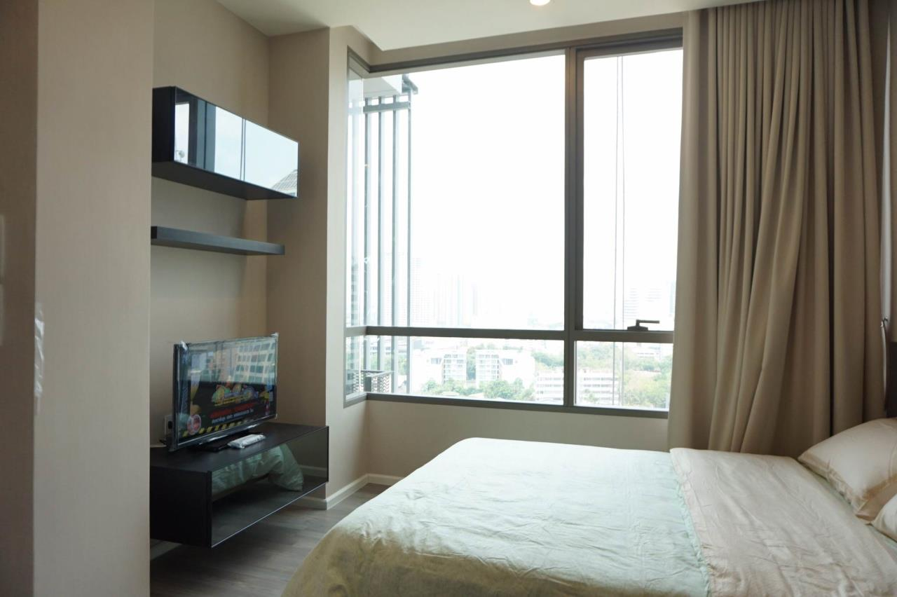Mahanakornproperty Agency's Next to BTS Asoke 1 bedroom for rent, Unblocked View, Great infinity pool 1