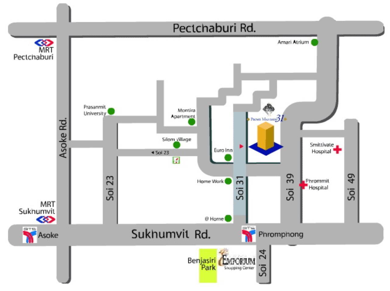 You Estate Agency's sale or rent 52000 area 80 sq.m 2 bed Prime Mansion sukhumvit 31 11