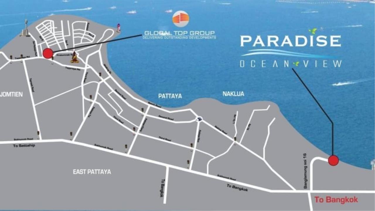 Agent - Pattaya Investment Agency's Paradise Ocean view Pattaya Move in today 14