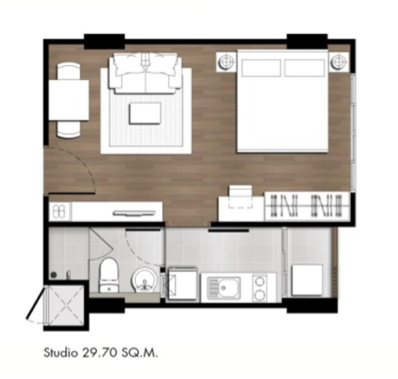 Agent - Yanisa Agency's 30 sq.m. studio fully furnish 2 units near Ferry pier, Khao Takiab  12